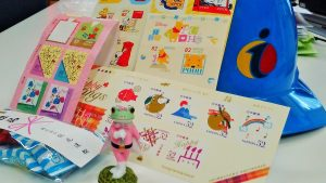 可愛い切手は貼るほうもウキウキします(^^)