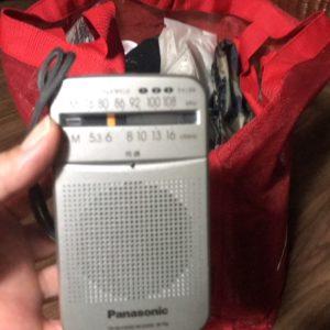 携帯ラジオは必須ですよ~ 電池の確認してくださいね(^^)